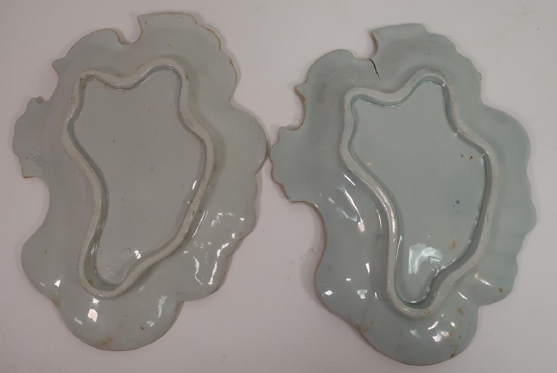 Pair of Ironstone Sweet Meat Dishes, 19th c. - 8