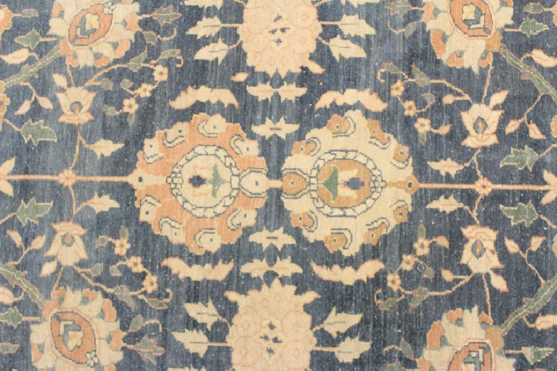 Oversized Egyptian Carpet, Pale Blue Field w Flowers