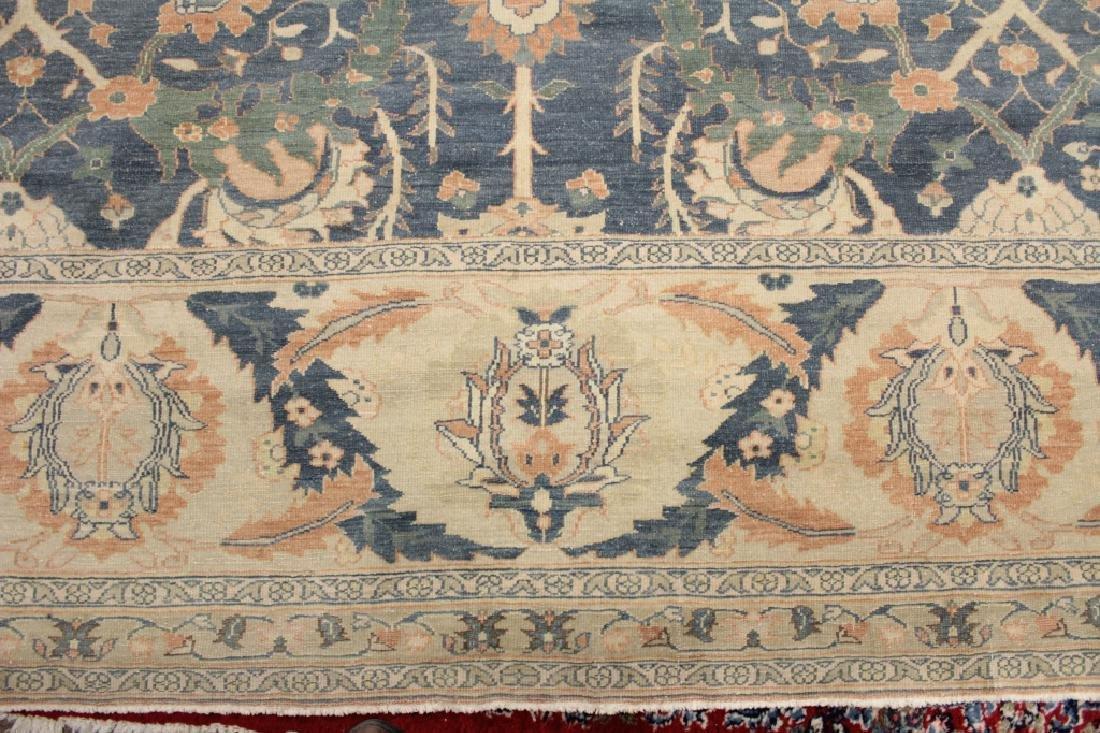 Oversized Egyptian Carpet, Pale Blue Field w Flowers - 3