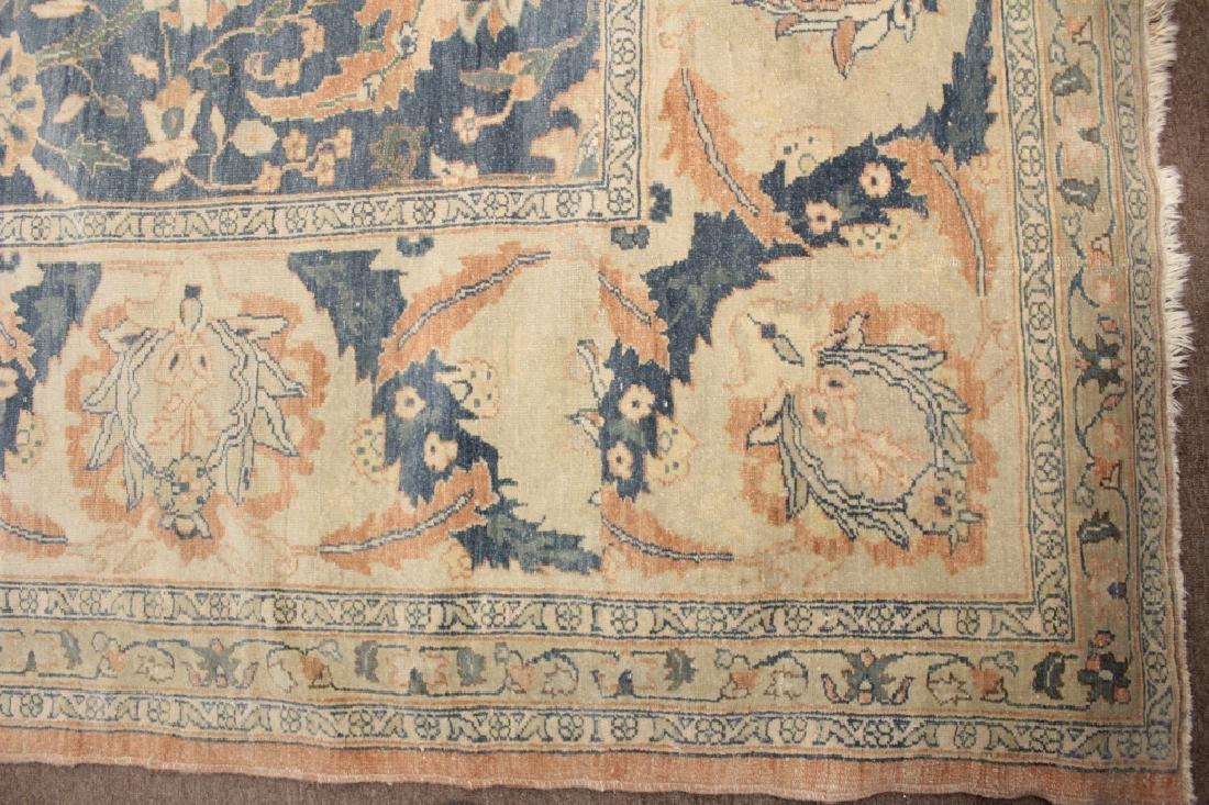 Oversized Egyptian Carpet, Pale Blue Field w Flowers - 4