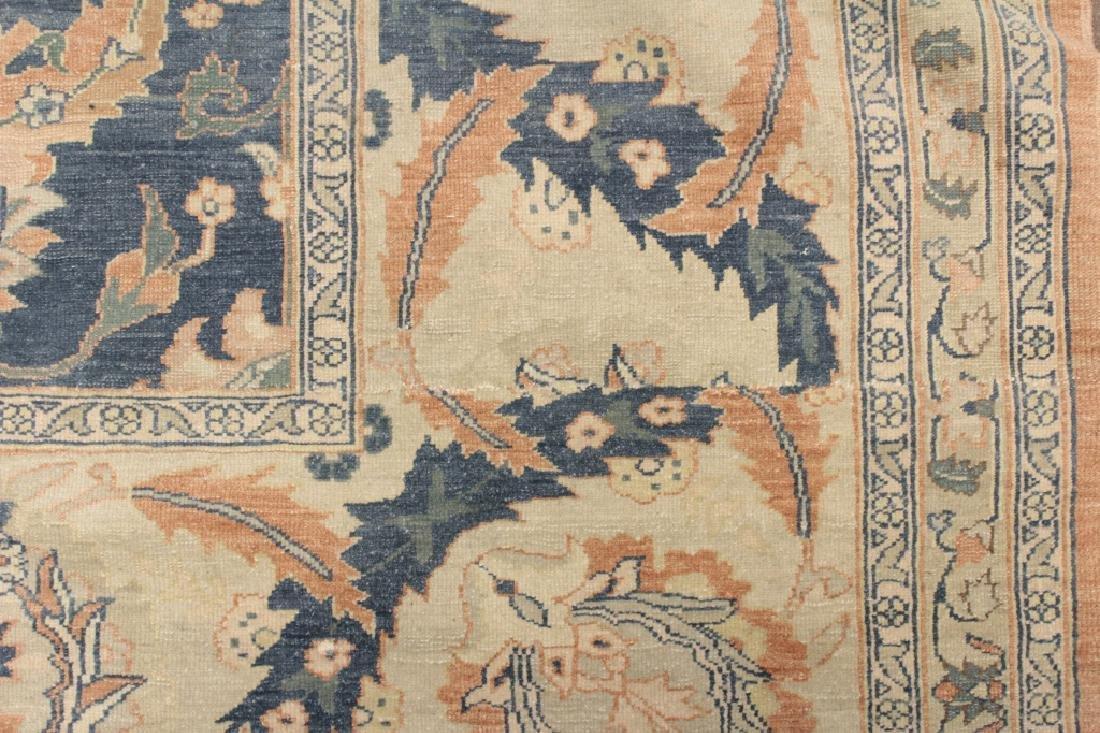 Oversized Egyptian Carpet, Pale Blue Field w Flowers - 6