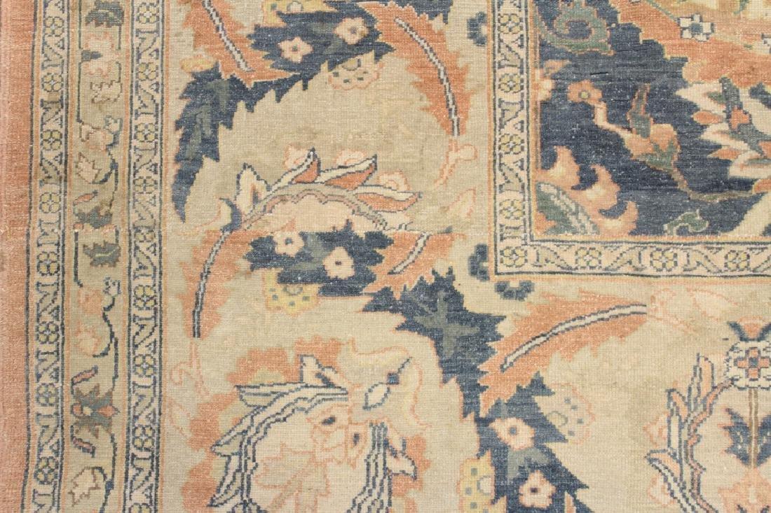 Oversized Egyptian Carpet, Pale Blue Field w Flowers - 7
