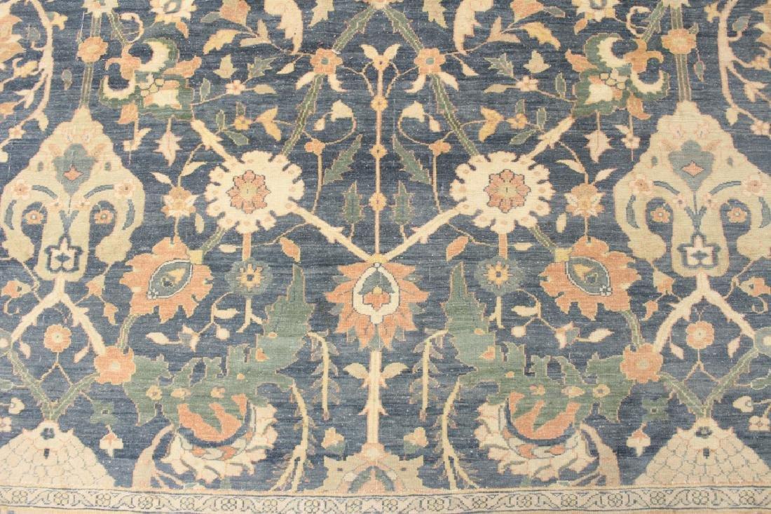 Oversized Egyptian Carpet, Pale Blue Field w Flowers - 8