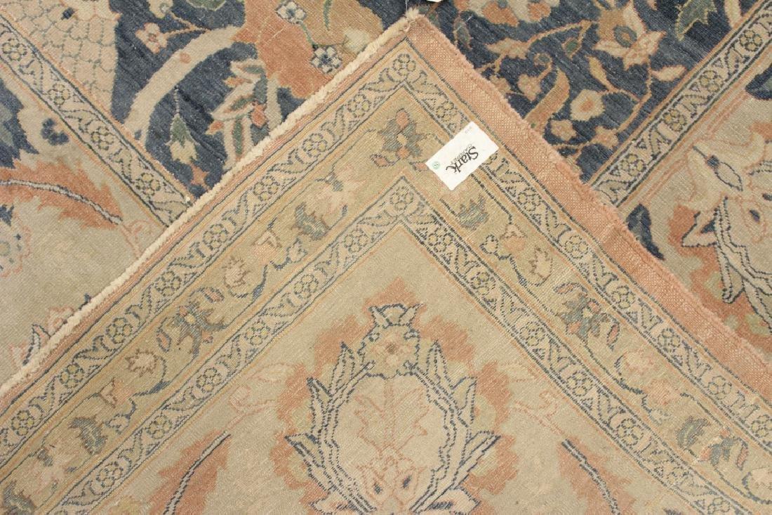 Oversized Egyptian Carpet, Pale Blue Field w Flowers - 9