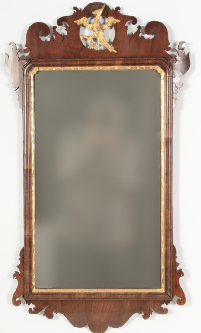 Chippendale Mahogany Mirror, English, 1760
