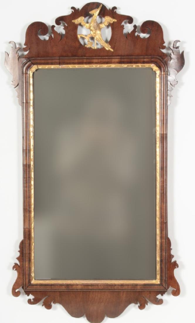 Chippendale Mahogany Mirror, English, 1760