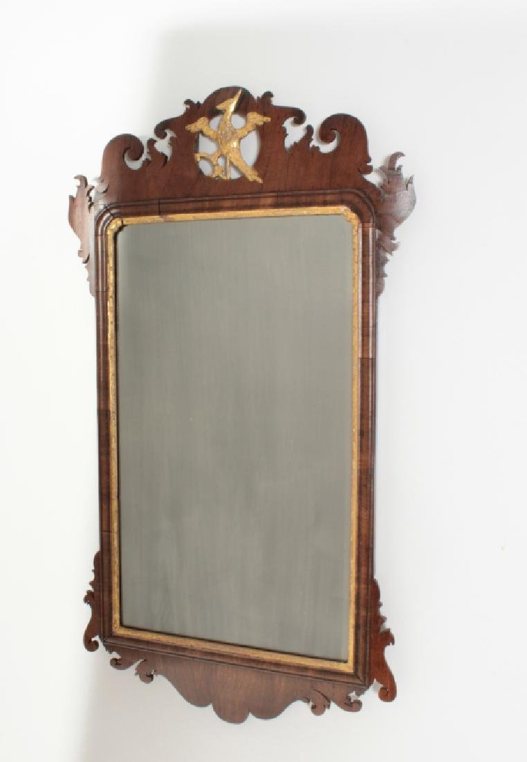 Chippendale Mahogany Mirror, English, 1760 - 8