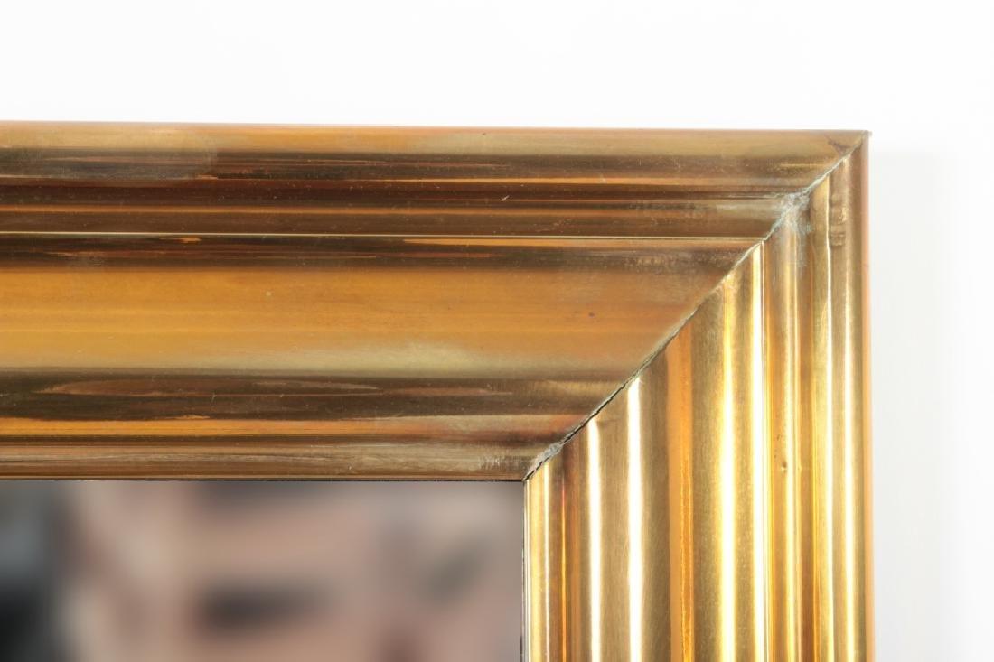 Large Brass Framed Beveled MIrror - 2
