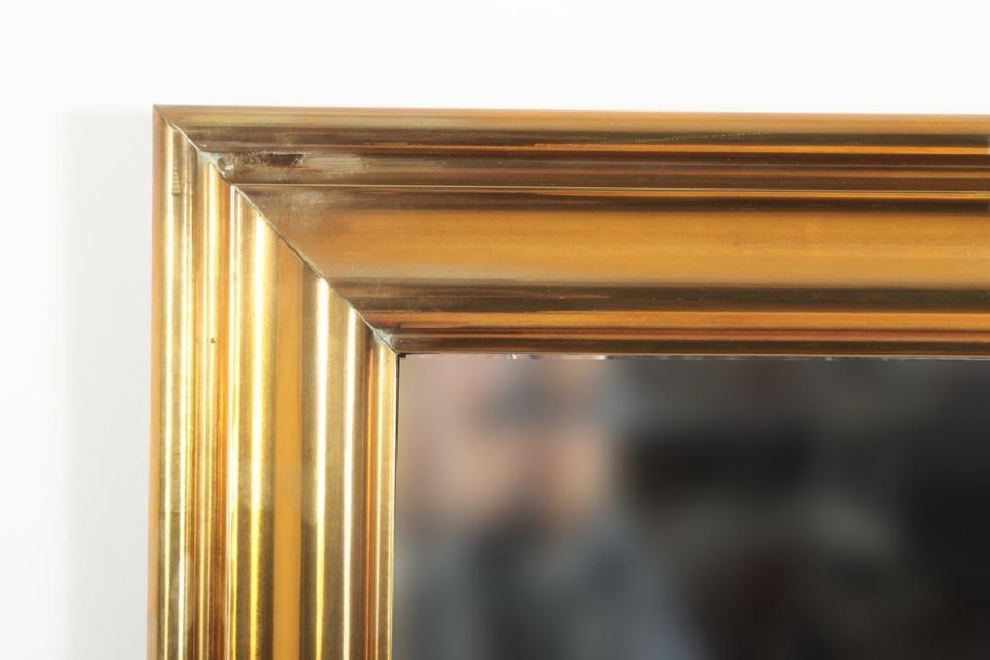 Large Brass Framed Beveled MIrror - 3
