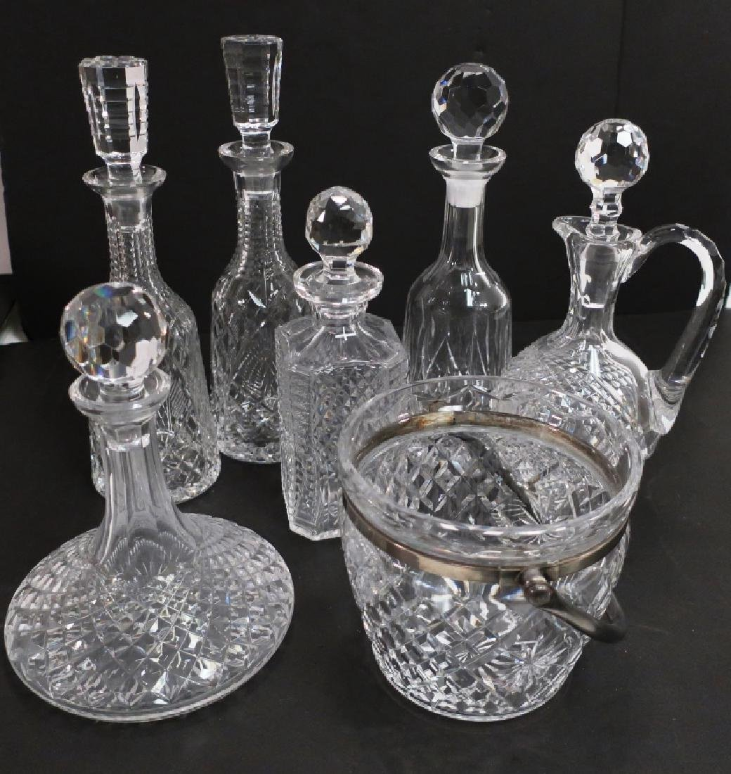 Lot of 7: Waterford Crystal Bar Ware, Decanters