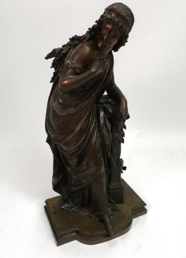 Mathurin Moreau, Fr., Classical Maiden, Lg. Bronze