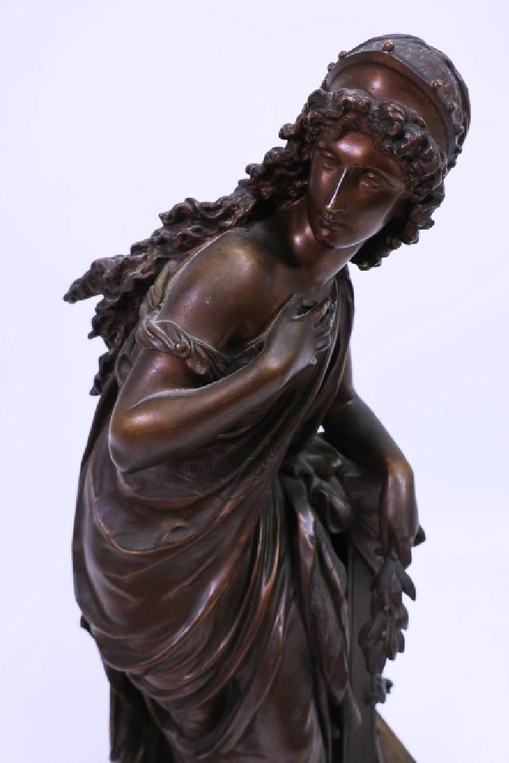 Mathurin Moreau, Fr., Classical Maiden, Lg. Bronze - 2