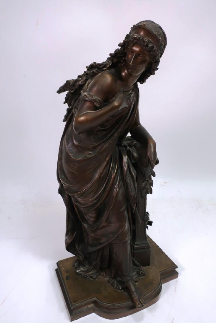Mathurin Moreau, Fr., Classical Maiden, Lg. Bronze - 3