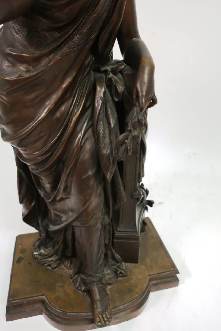 Mathurin Moreau, Fr., Classical Maiden, Lg. Bronze - 4
