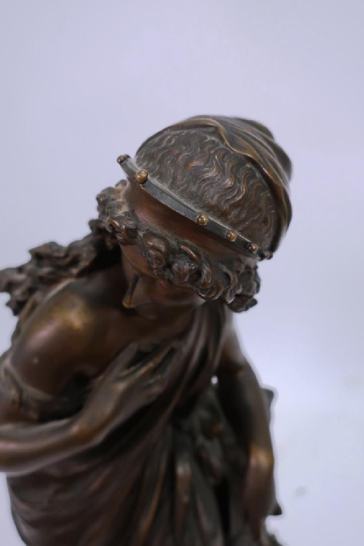 Mathurin Moreau, Fr., Classical Maiden, Lg. Bronze - 5