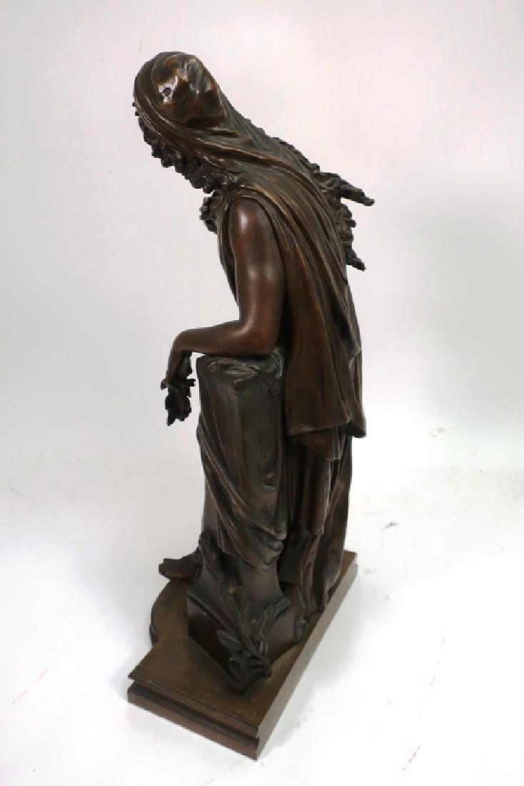 Mathurin Moreau, Fr., Classical Maiden, Lg. Bronze - 6
