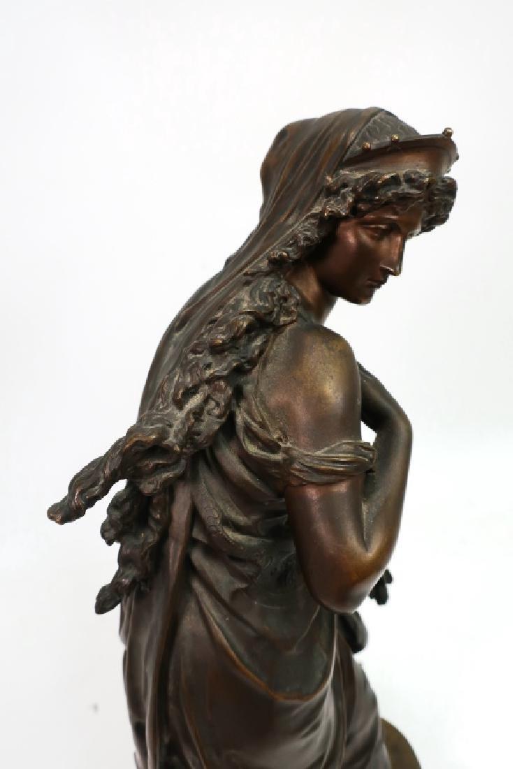 Mathurin Moreau, Fr., Classical Maiden, Lg. Bronze - 8