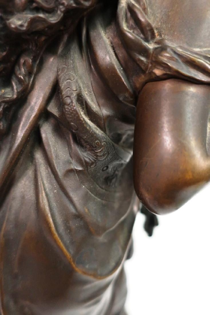 Mathurin Moreau, Fr., Classical Maiden, Lg. Bronze - 9