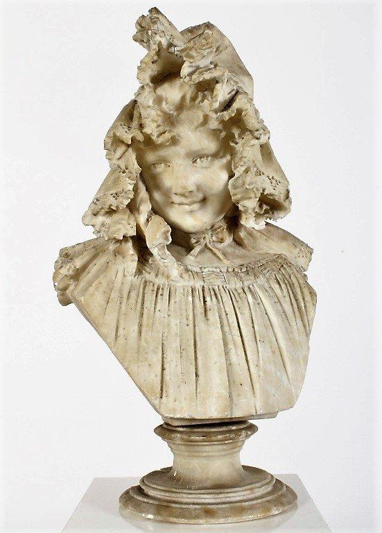 Ferdinando Vichi 1875-1945 Bust of a Maiden 1896