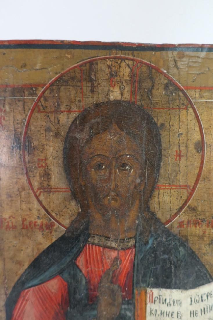 Russian Icon, Christ Pantocrator,oil on board - 2