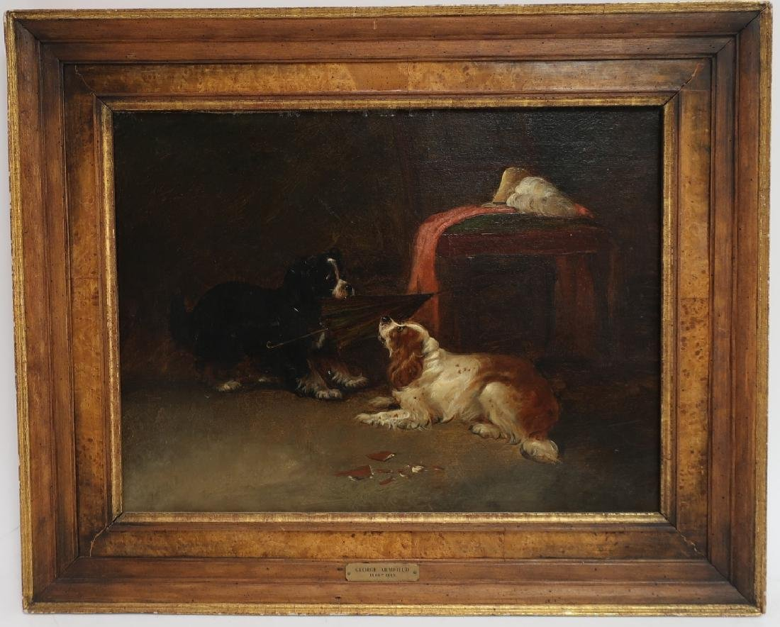 """Attr George Armfield """"Up to Mischief"""" Spaniels O/C"""