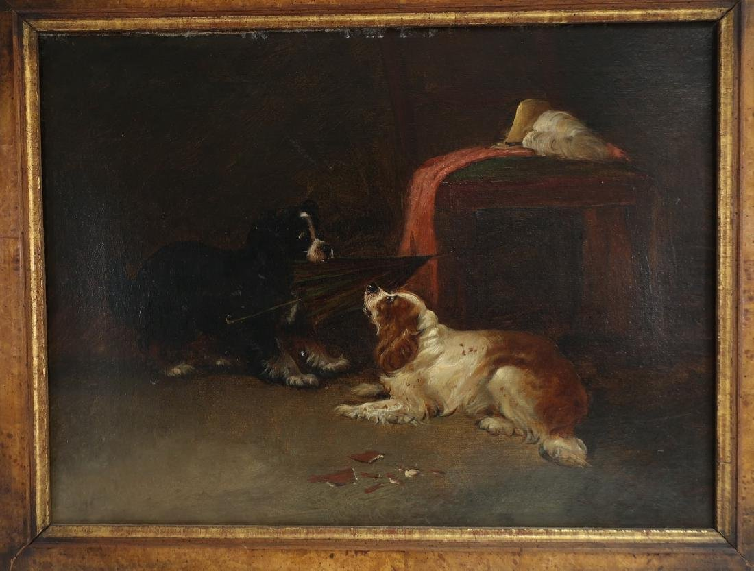 "Attr George Armfield ""Up to Mischief"" Spaniels O/C - 2"