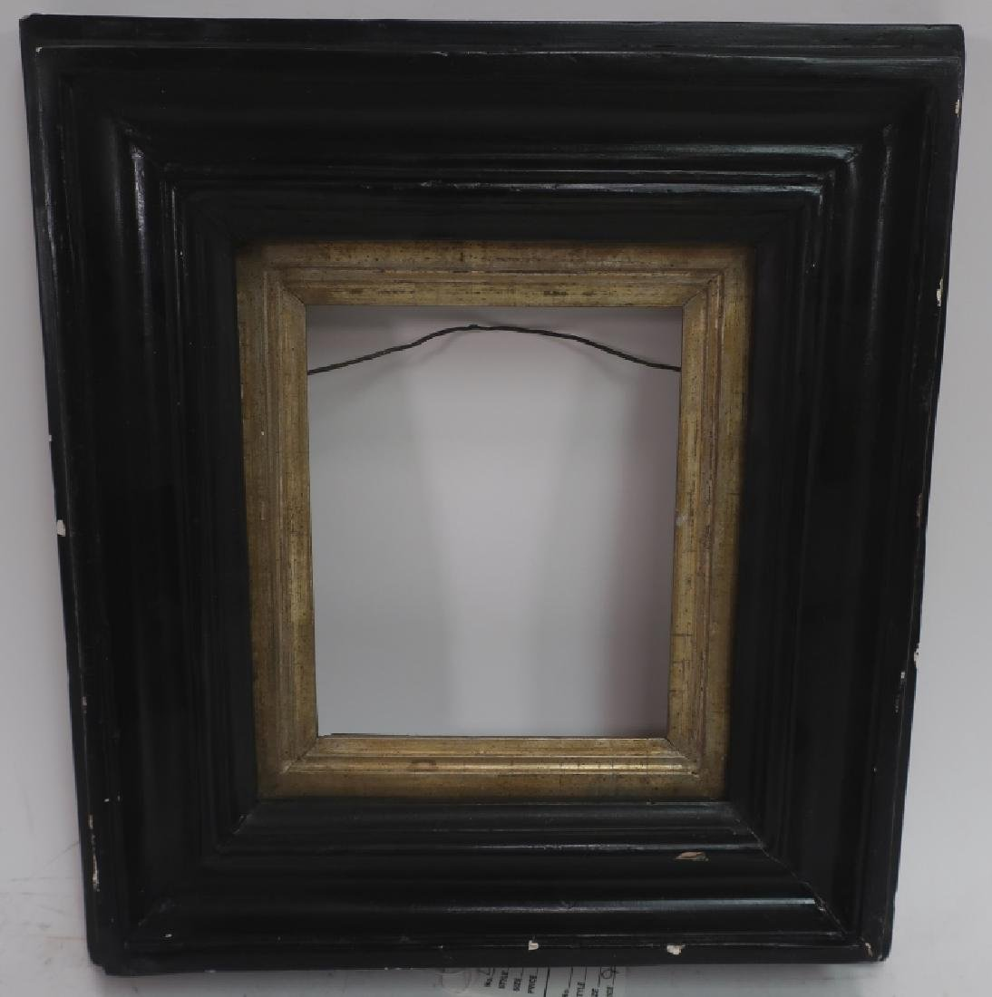 Small 18th c. Black Painted Continental Frame