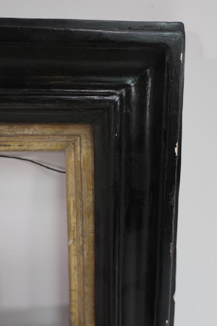Small 18th c. Black Painted Continental Frame - 2