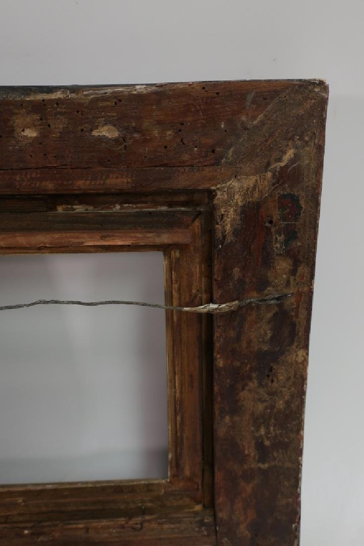 Small 18th c. Black Painted Continental Frame - 3