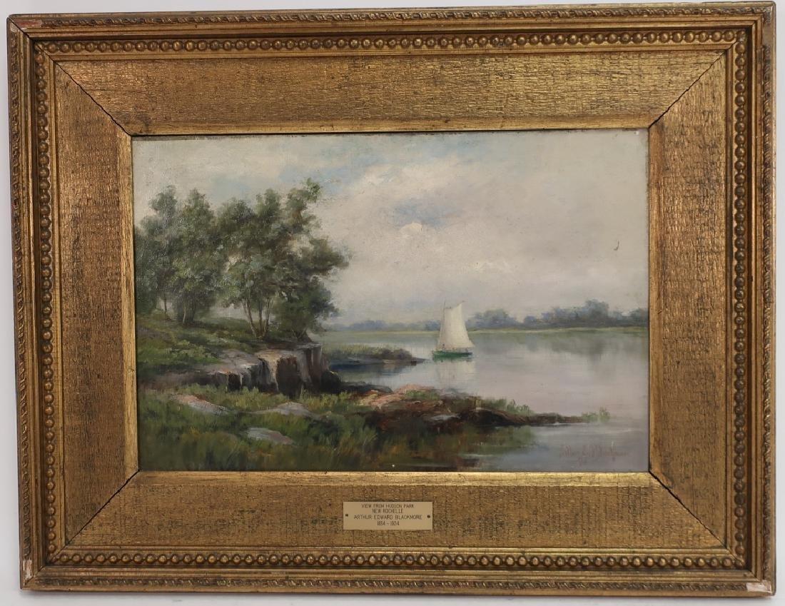 """Arthur Blackmore, 1854-1921, """"..New Rochelle""""  O/C"""