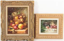 2 Still Life Paintings, 20/21st C.