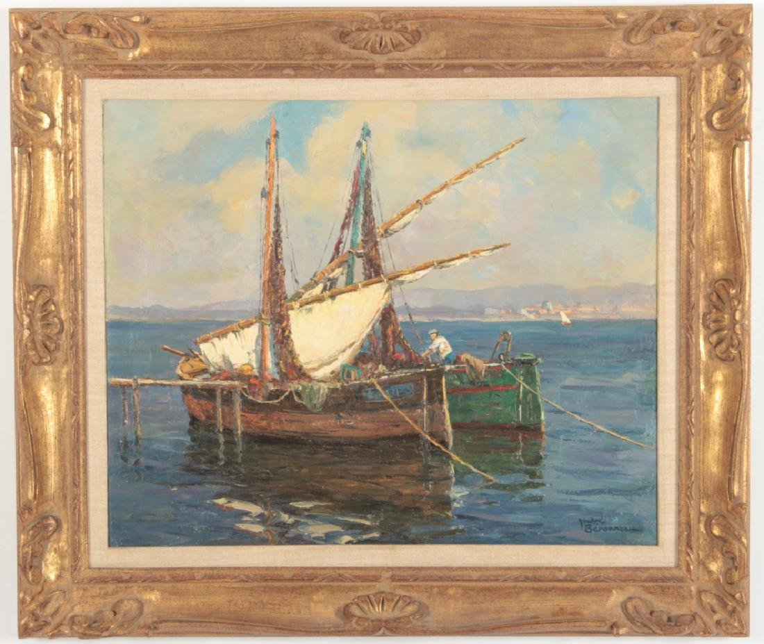 Andre Berroneau, 1886-1973, Fishing Boat o/c