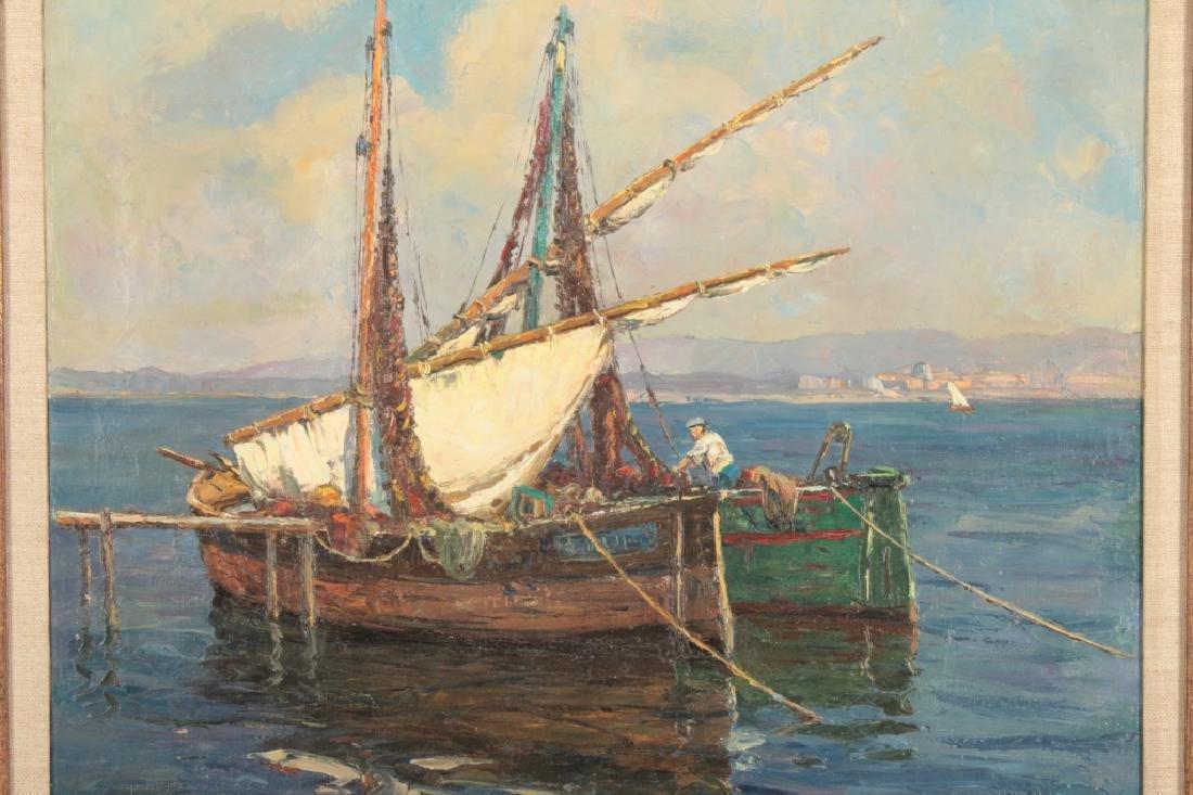 Andre Berroneau, 1886-1973, Fishing Boat o/c - 2