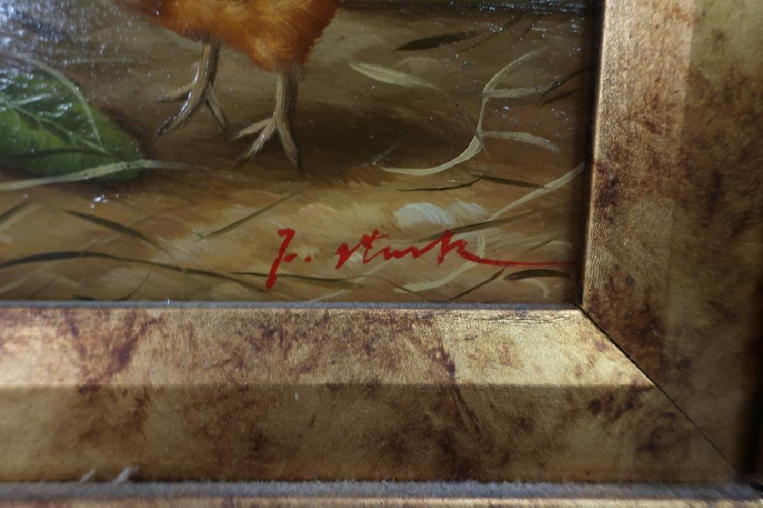 2 Paintings of Roosters, 20/21st C. - 3
