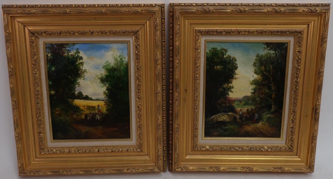 Pair of Landscape Paintings, 20/21st C.