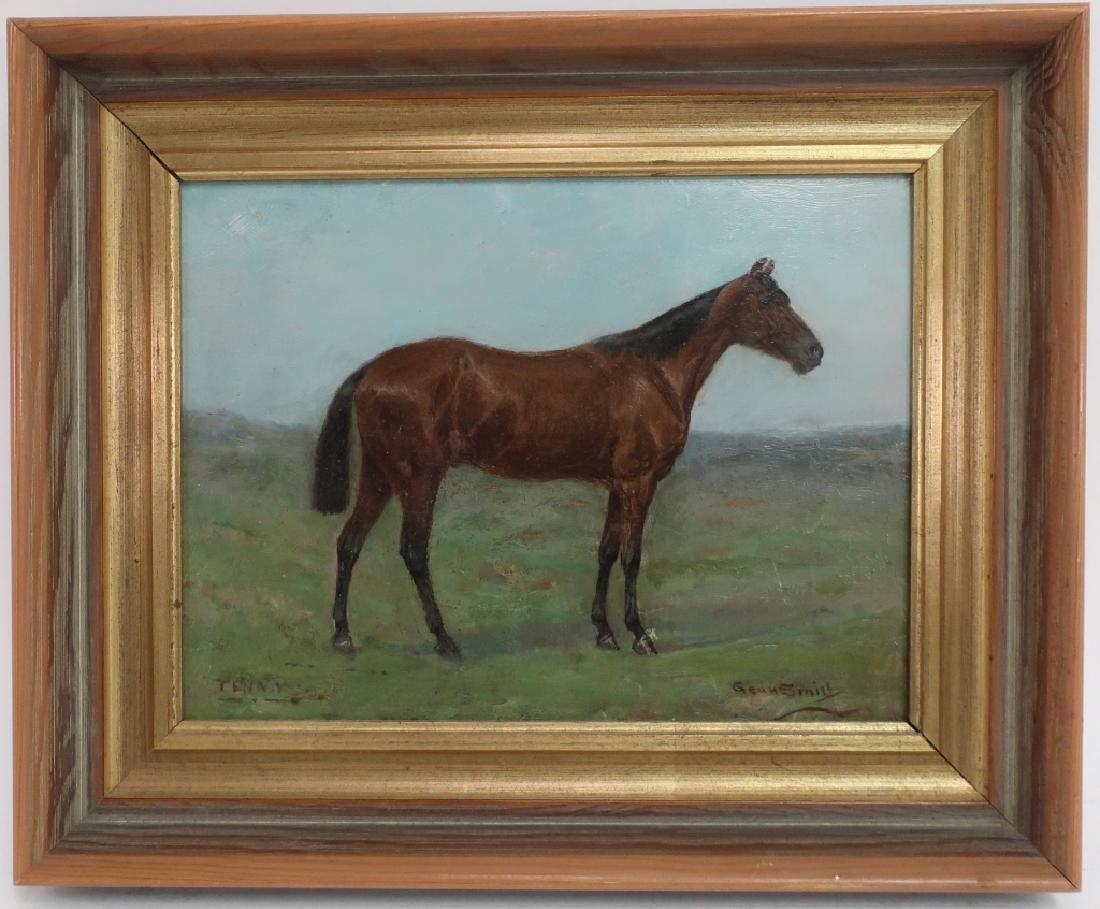 "Gean Smith 1851-1928 Race Horse ""Tenny"" O/B 19th c"