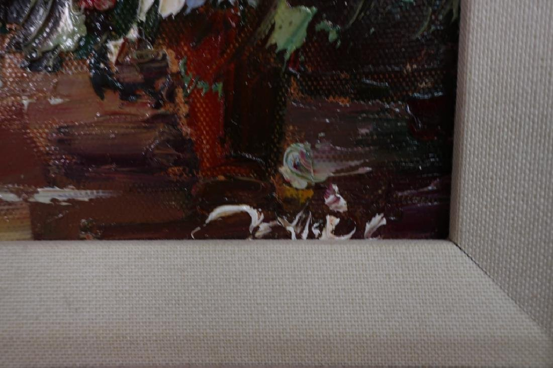 Group of 4 Paintings of Flowers, o/c - 6