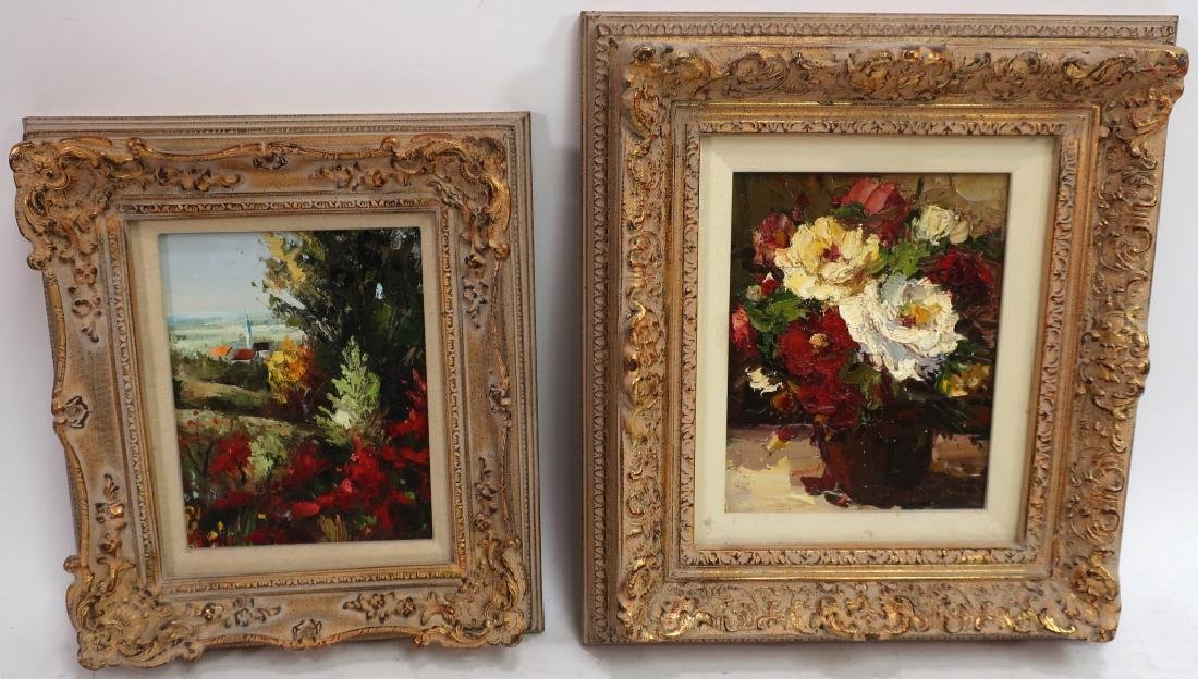Group of 4 Paintings of Flowers, o/c - 7