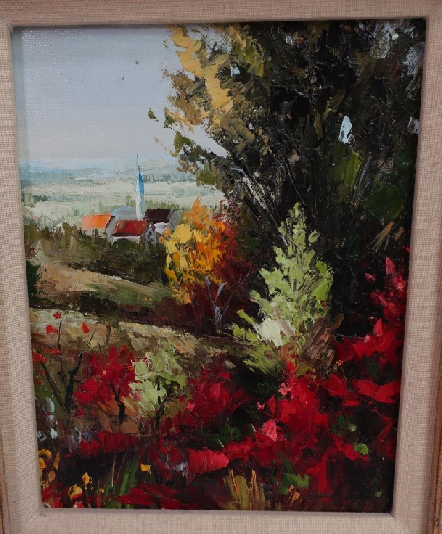 Group of 4 Paintings of Flowers, o/c - 9