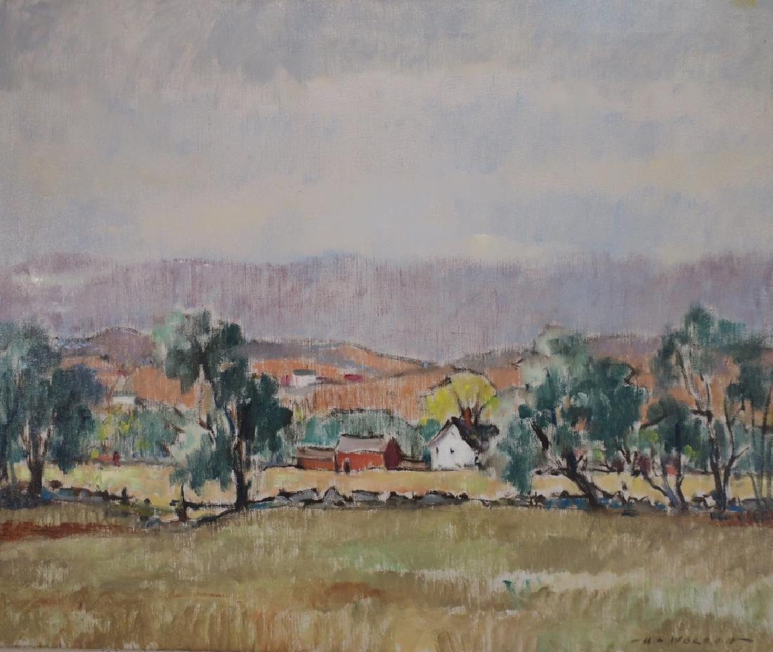 Harold C. Wolcott, Am., Autumn Landscape, O/C