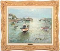 "Jean Kevorkian, b. 1933, ""Luguivy de la Mer"" o/c"