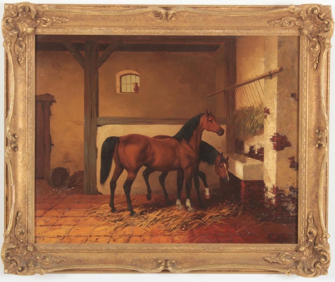 Kingsley Chalon UK 1872-1932, 2 Bay Horses, O/P