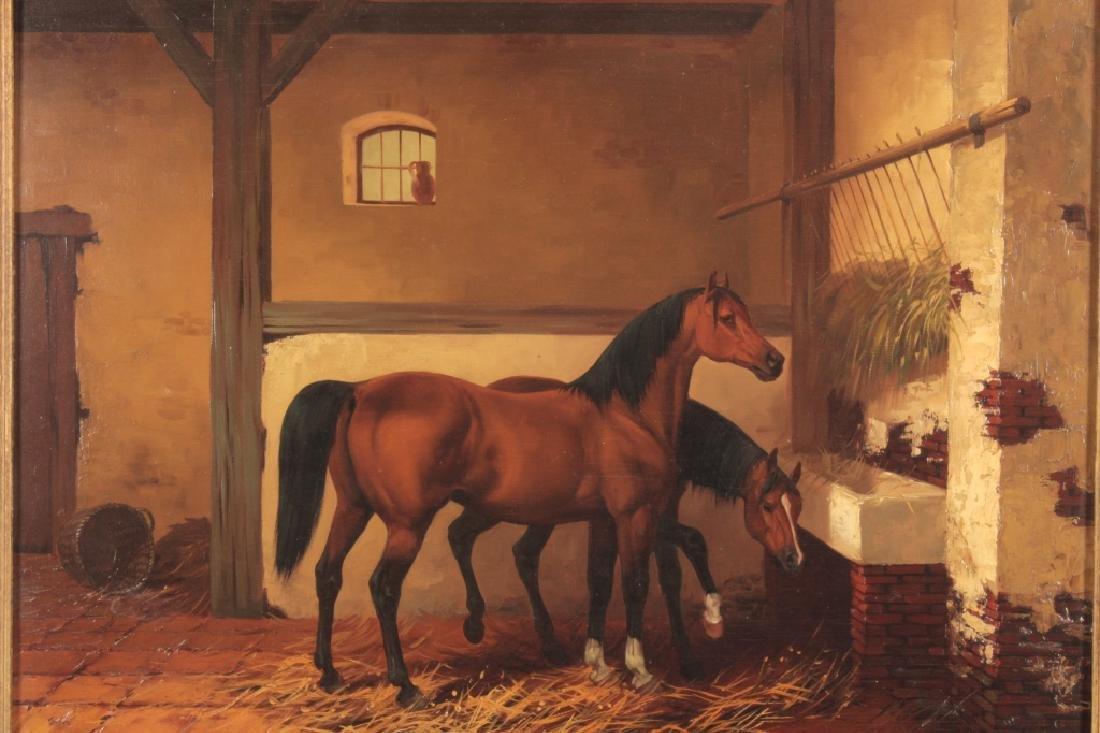 Kingsley Chalon UK 1872-1932, 2 Bay Horses, O/P - 2