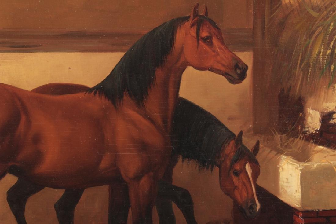 Kingsley Chalon UK 1872-1932, 2 Bay Horses, O/P - 3