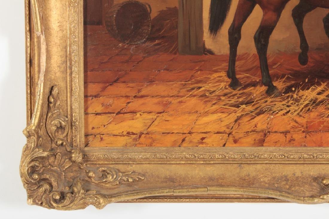 Kingsley Chalon UK 1872-1932, 2 Bay Horses, O/P - 5