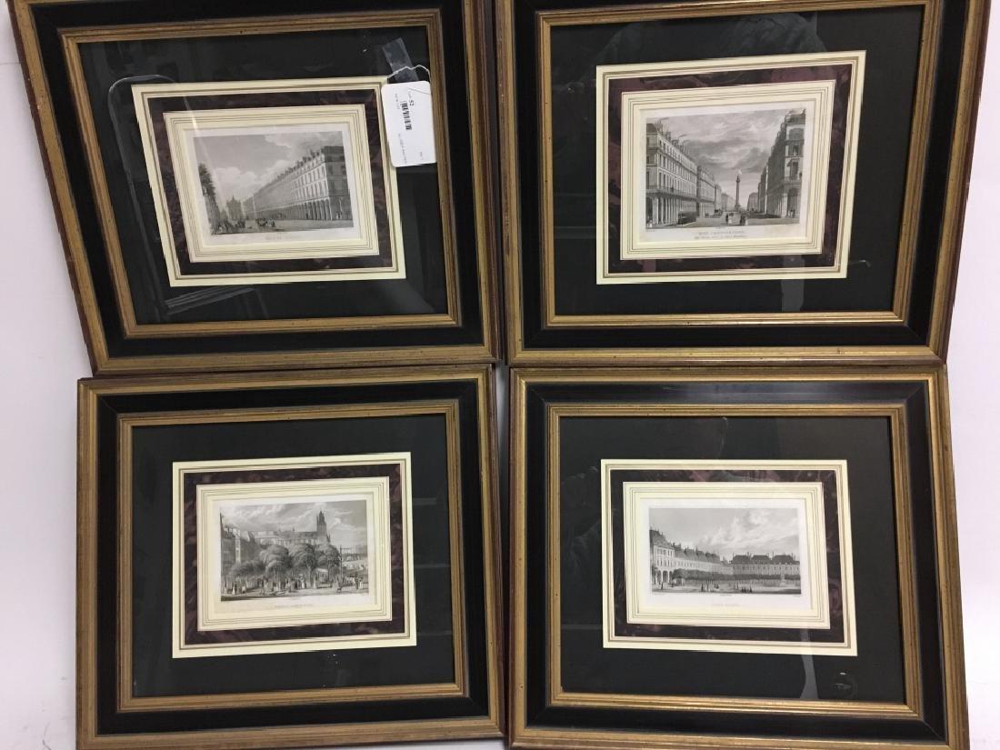 Four Well-Framed 19th c. Parisian Engravings - 10