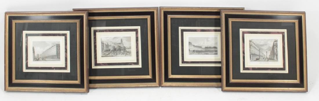 Four Well-Framed 19th c. Parisian Engravings