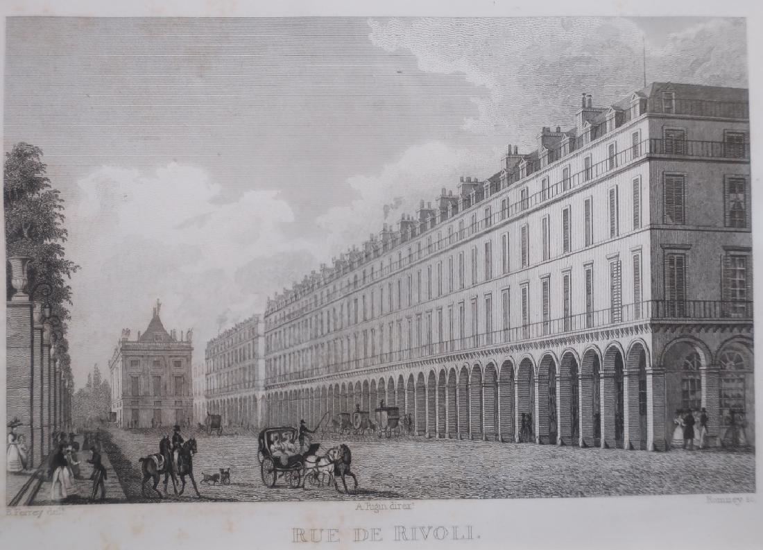 Four Well-Framed 19th c. Parisian Engravings - 2