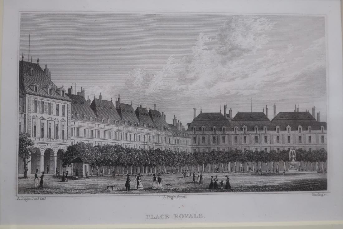 Four Well-Framed 19th c. Parisian Engravings - 5