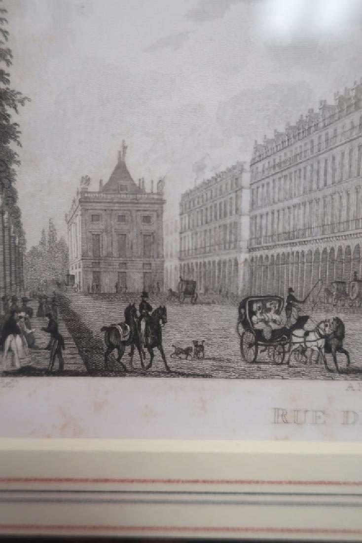 Four Well-Framed 19th c. Parisian Engravings - 6